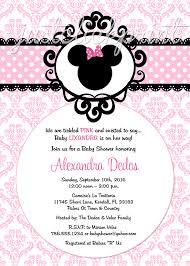 minnie mouse pink black damask baby shower birthday invitation