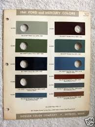 photo 1941 ford paint color chips 1939 1940 1941 1942 ford cars