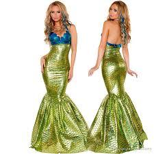 Halloween Costumes Nightclubs Girls Role Playing Mermaid Costume Dress Big Mermaid Dress