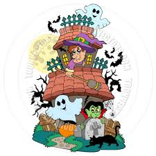 pictures of cartoon haunted houses cartoon haunted house with various characters by clairev toon