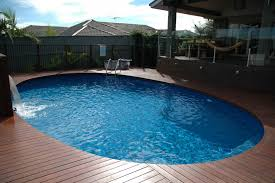 nice elegant oval above ground pool decks can be decor with wooden