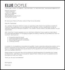 admissions director cover letter 28 images sle cover letter