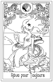 mermaid color page 60 best sirènes images on pinterest coloring books drawings and