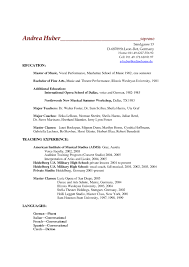 Academic Resume Format Academic Resume High Resume For Your Job Application