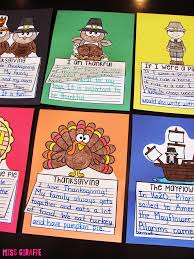 a paragraph about thanksgiving miss giraffe u0027s class november writing crafts