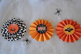 halloween party paper rosette pinwheel garland banner in