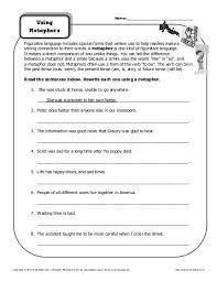 metaphor hunt figurative language worksheets