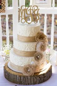 burlap cake toppers rustic burlap and lace wedding cake weddings
