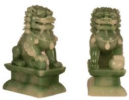 jade lion statue feng shui classical protection symbol fu dogs