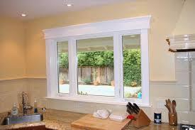bay window molding decor window ideas
