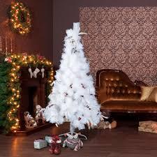 homcom christmas tree 150h cm w berry white spruce aosom co uk