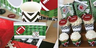 football baby shower football themed baby shower green labeled themed pop corne