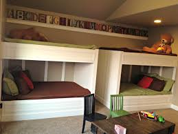bedroom queen size loft bed concrete pillows lamp bases