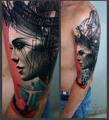 tattoo portraits on arm a chat with trash style tattoo artist timur lysenko tattoodo