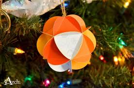christmas card paper ornament ball how to make a bauble