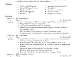 Example Of Nanny Resume by Stylish Inspiration Ideas Sample Nanny Resume 7 Best Example Cv