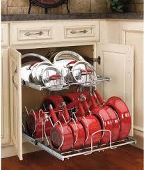 Diy Kitchen Cabinet Organizers by Best 25 Pan Organization Ideas On Pinterest Organize Kitchen