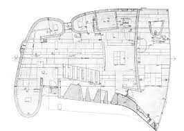 notre dame du haut floor plan drawing space architecture art and observations