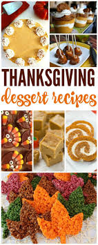 thanksgiving dessert recipes for your and family