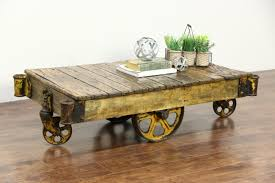 sold industrial 1910 antique salvage 4 wheel factory cart or