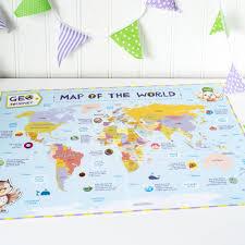 Map Geo Child U0027s World Map By Geo Journey Notonthehighstreet Com