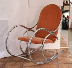 Rocking Chair Miami Vintage Mid Century Mod Chrome Tubular Rocking Chair On The Highboy
