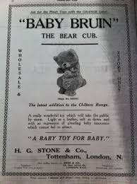teddy bear writing paper www danielagnew com it is so nice to identify an unknown bear when you find an advert like this i always estimate at least 50 of bears as being unidentified so to tick one