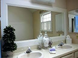 Mirror Trim For Bathroom Mirrors Trim For Mirrors In Bathroom How To Frame A Bathroom Mirror Trim