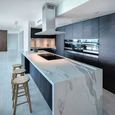 Design Island Kitchen Neolith The Main Material In A Luxurious Apartment In Miami Beach