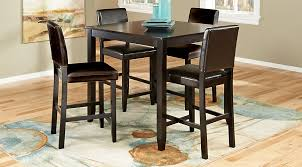 espresso dining room set sunset view espresso 5 pc counter height dining set dining room