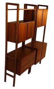 Mid Century Modern Bookcase Mid Century Modern Storage Room Divider Bookcase Hutch