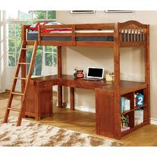 Bunk Beds And Desk Low Loft Bunk Beds Made Of Solid Wood In White Finished With