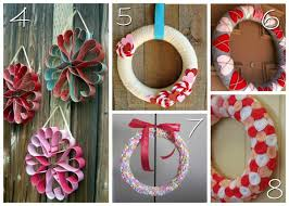 Ideas For Homemade Valentine Decorations by 12 Diy Valentine U0027s Wreaths Blissfully Domestic