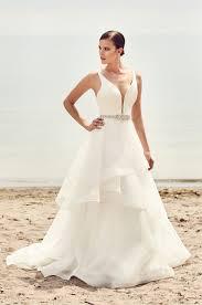 wedding skirt tiered organza skirt wedding dress style 2112 mikaella bridal