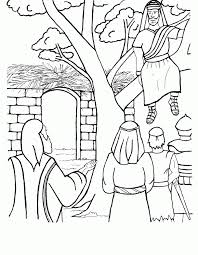 Jesus And Zacchaeus Coloring Page Free Background Coloring Jesus Zacchaeus Coloring Page