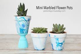 marbled flower pots jpg