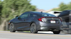 2017 honda civic si spied with center exit exhaust larger air intakes