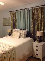 Sheer Curtains Over Bed The 25 Best Curtain Behind Headboard Ideas On Pinterest