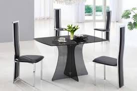 dining alba large black glass dining table 1 glass and chrome