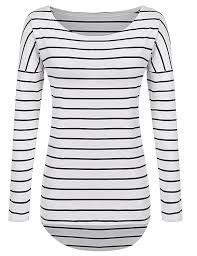 striped blouse pogtmm sleeve striped t shirt tunic tops for for