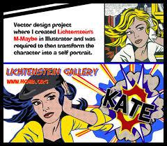roy lichtenstein vector roy lichtenstein inspired portrait on behance