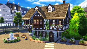 the sims 4 build tutorial how to build a tudor house sims