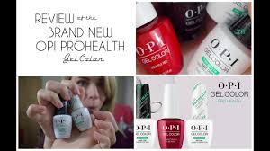 opi pro health gel colour review youtube
