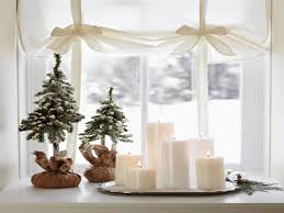 decorating ideas for small spaces candles window christmas