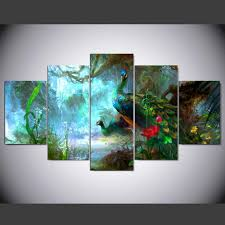 Paintings For Living Room Online Get Cheap Peacock Framed Art Aliexpress Com Alibaba Group