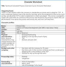 creating a character worksheet creating great stories to enhance e