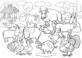 zoo scene coloring page free download