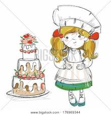 hat wedding cake hand drawn vector u0026 photo bigstock