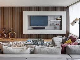 living room marvelous brown modern varnished wood paneling wall