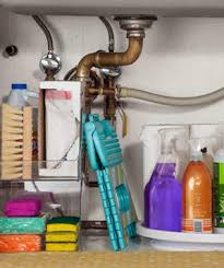 Organizing Under Kitchen Sink by Easy Under The Sink Storage Ideas Real Simple